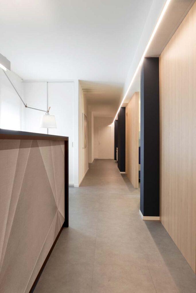 corridoio con stripled