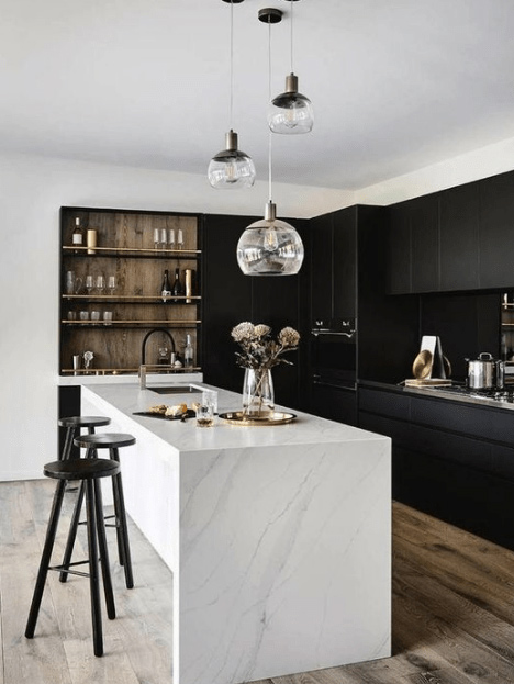 cucine bianche e nere