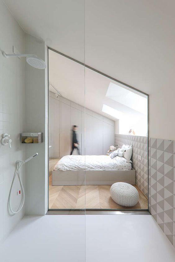 bagno in camera mansarda
