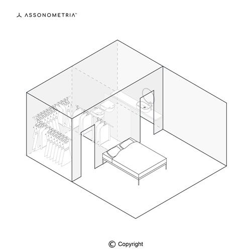 camera con cabina armadio e bagno