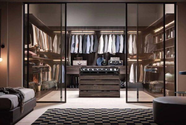 camera da letto con cabina armadio