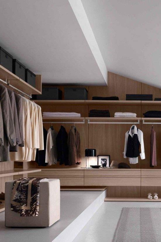 come organizzare una cabina armadio