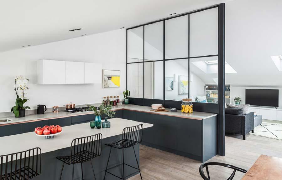 filtro tra cucina e soggiorno