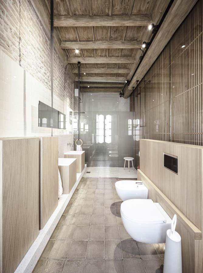 bagno stile rustico moderno