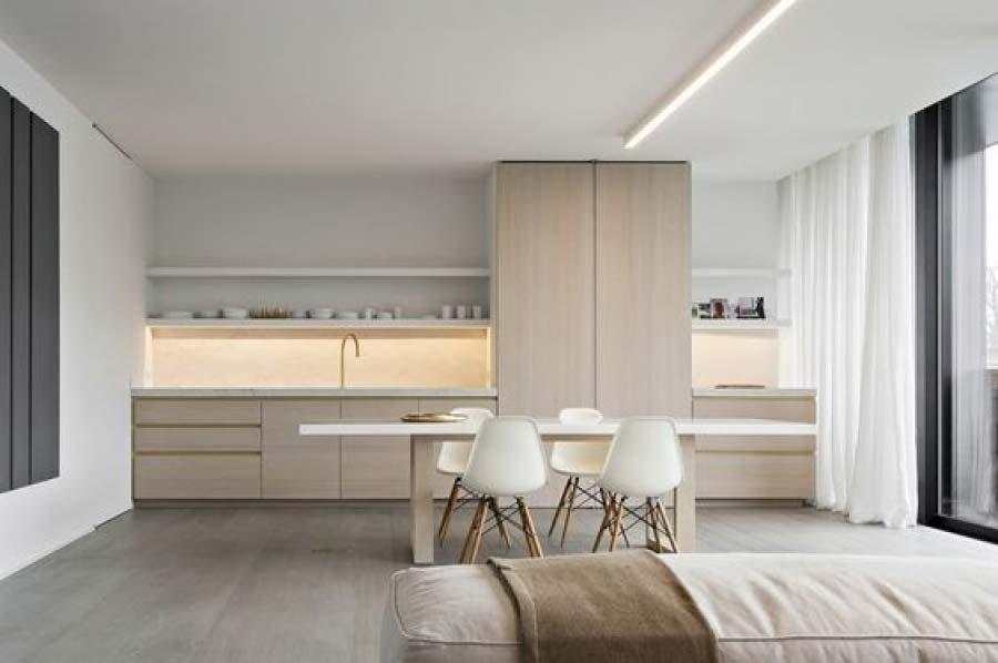 Illuminazione di una cucina moderna
