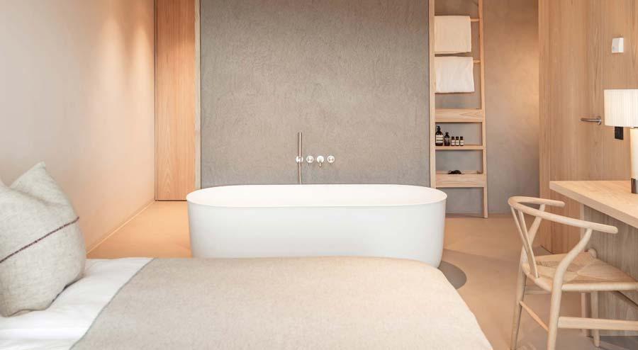 camera con vasca da bagno