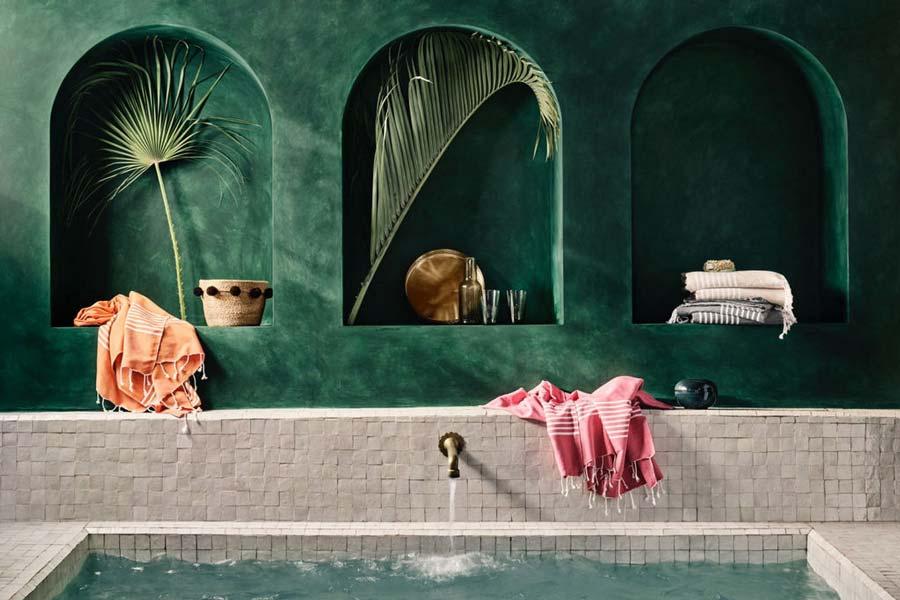 Materiali per il bagno turco