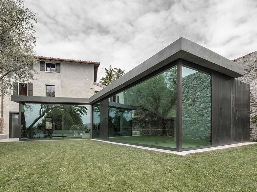 ampliamento casa con la veranda