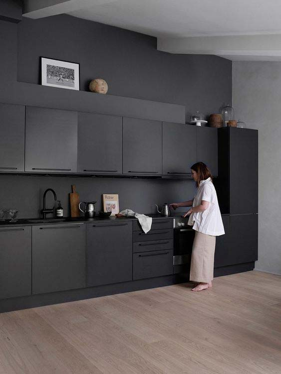 Cucine bianche nere
