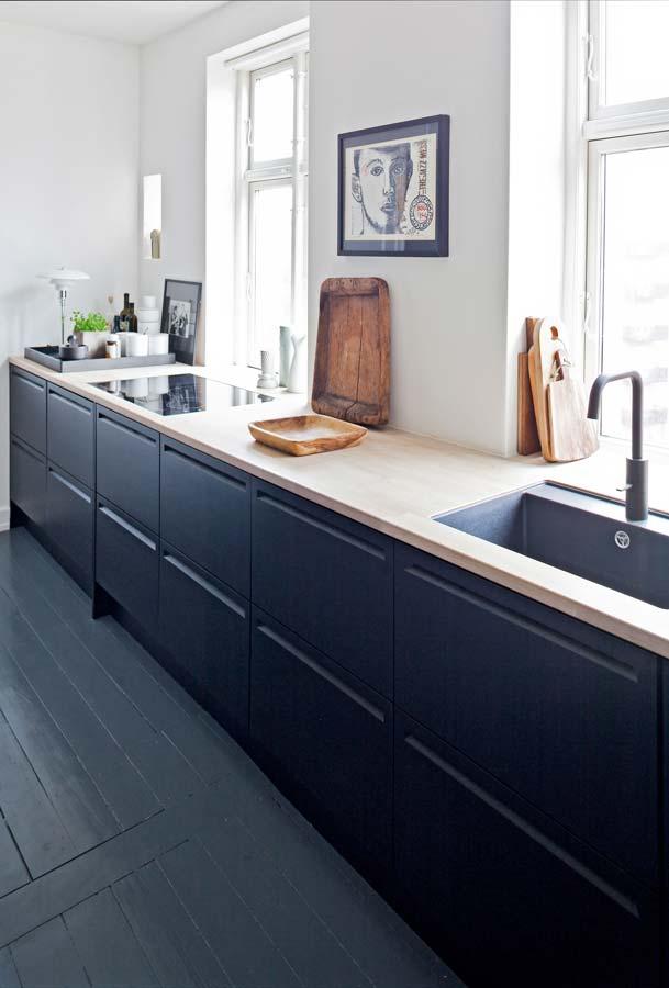 Cucine nera legno
