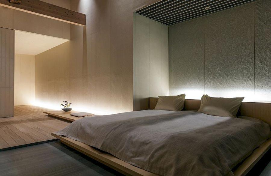Illuminazione camera da letto moderna