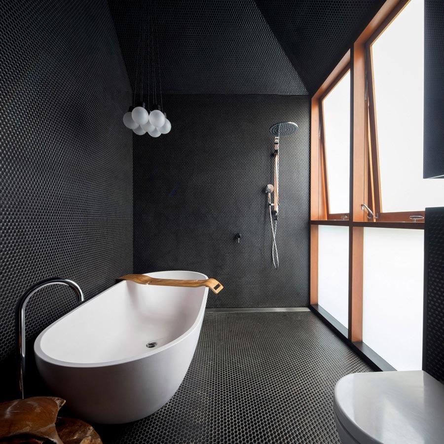 Bagno bianco e nero
