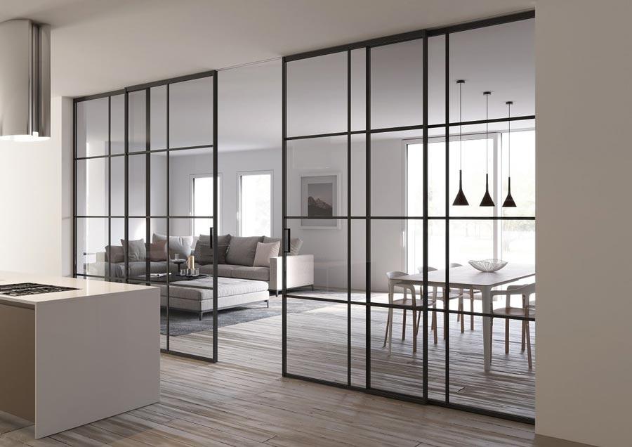 Idee per divedere soggiorno e cucina