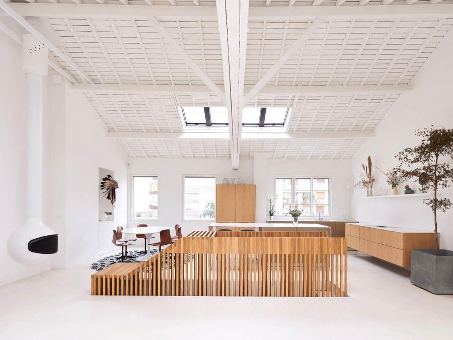 Soluzioni per diverse soggiorno e cucina