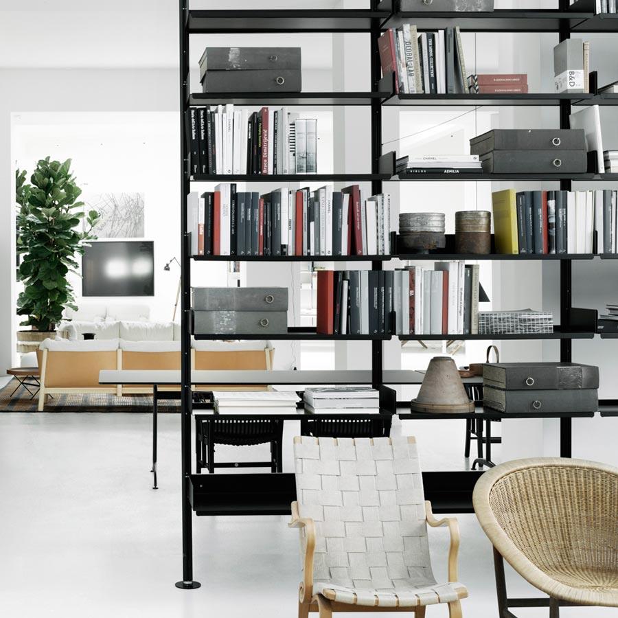 Dividere soggiorno e cucina con una libreria